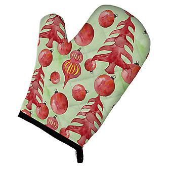 Carolines Treasures  BB7483OVMT Red Christmas Tree and Ornaments Oven Mitt