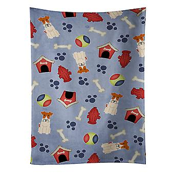 Dog House Collection Wire Fox Terrier Kitchen Towel