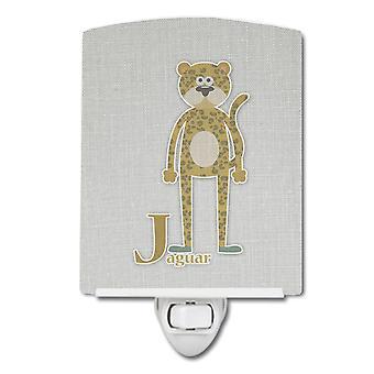 Carolines trésors BB5735CNL Alphabet J pour veilleuse céramique Jaguar