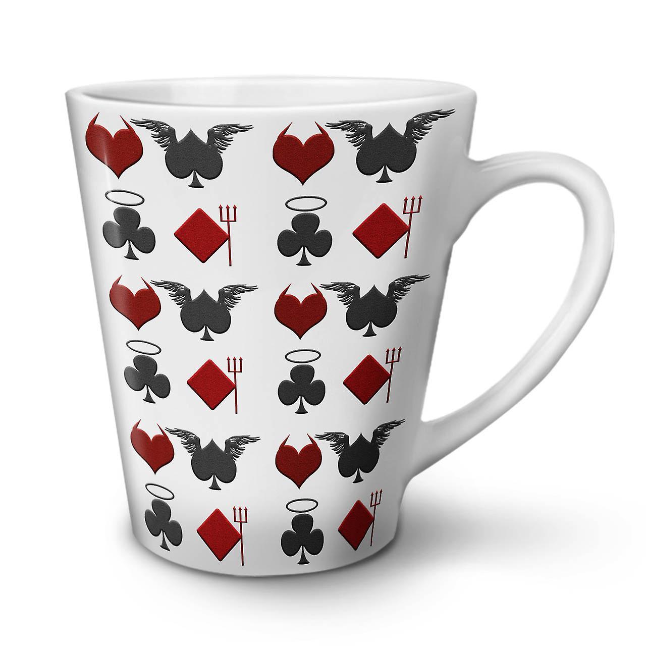 OzWellcoda Céramique Thème Latte Nouvelle Tasse Jeux En 12 Cartes Blanche Café De rxQdECBoWe