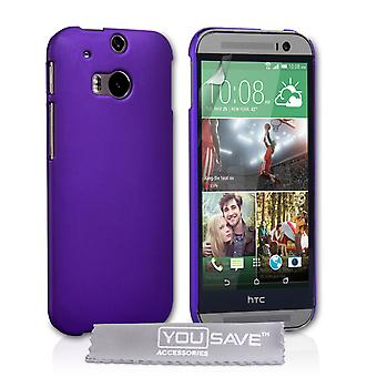 HTC One M8 Hard Hybrid Case - fioletowy