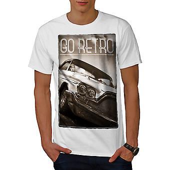 Go Retro Old Car Vintage Men WhiteT-shirt | Wellcoda