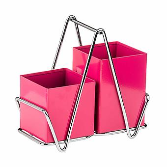 Premier Housewares coutellerie Caddy, Hot Pink