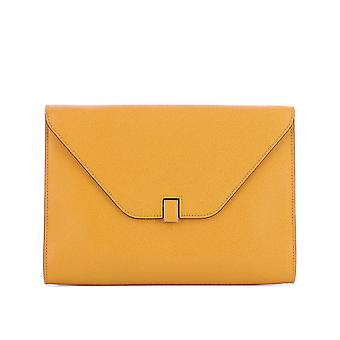 Valextra ladies V4D47028000 yellow leather clutch