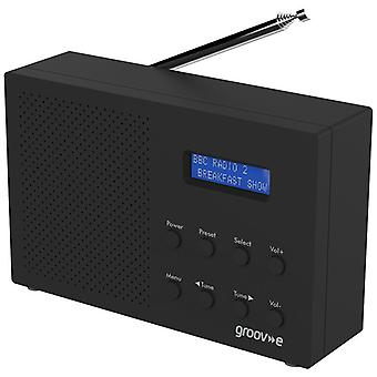 Groov-e Paris Portable DAB/FM Digital Radio - Black (Model No. GVDR03BK)