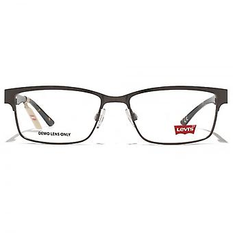 Levis Classic Rectangle Glasses In Gunmetal