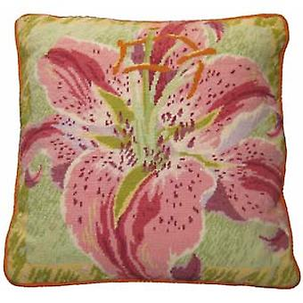Single Lily Needlepoint Canvas