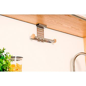 Kitchen roll holder stainless steel hanging storage hanging approximately 28.4 x 7,5 x 15 cm