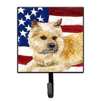 Carolineøerne skatte BB9690SH4 Cairn Terrier patriotiske snor eller nøgleringe