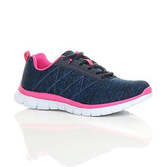 Ajvani womens lace up comfort memory foam gym trainers sneakers sport plimsolls