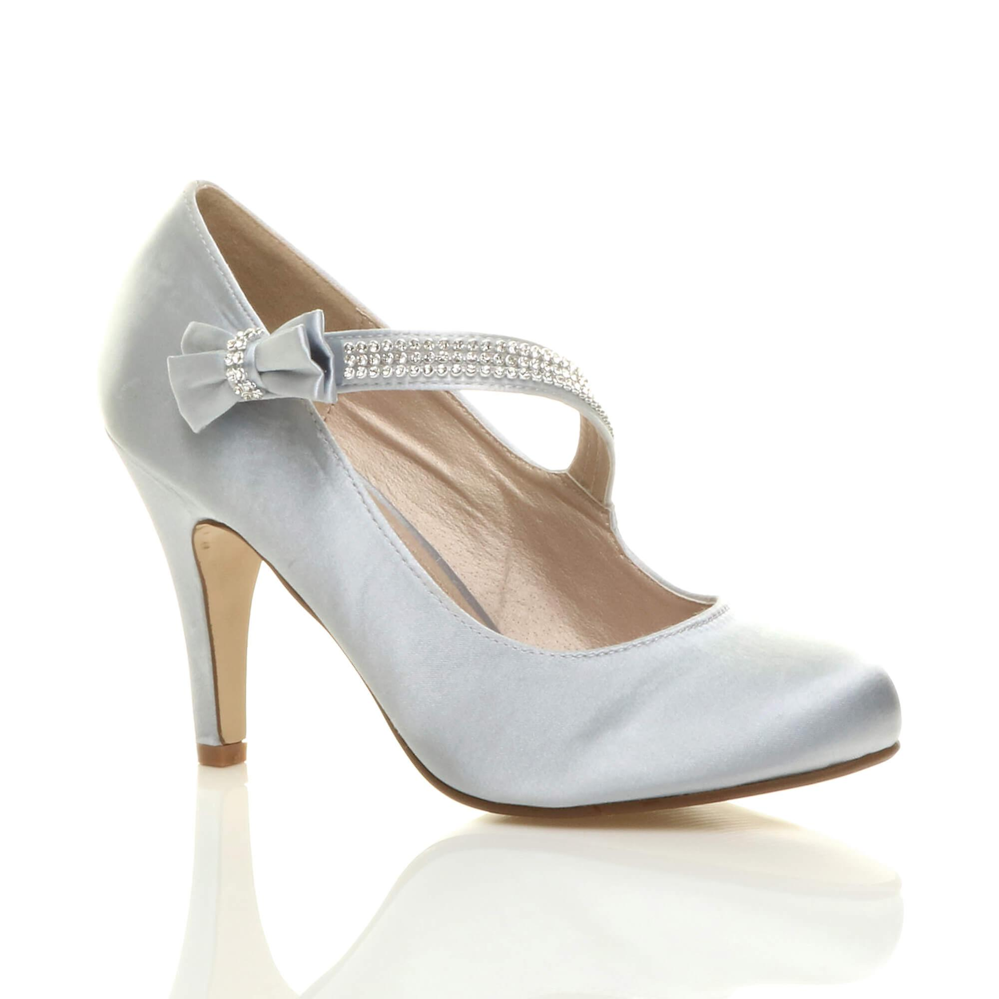 Corte Ajvani womens da sposa prom partito classico tacco alto scarpe