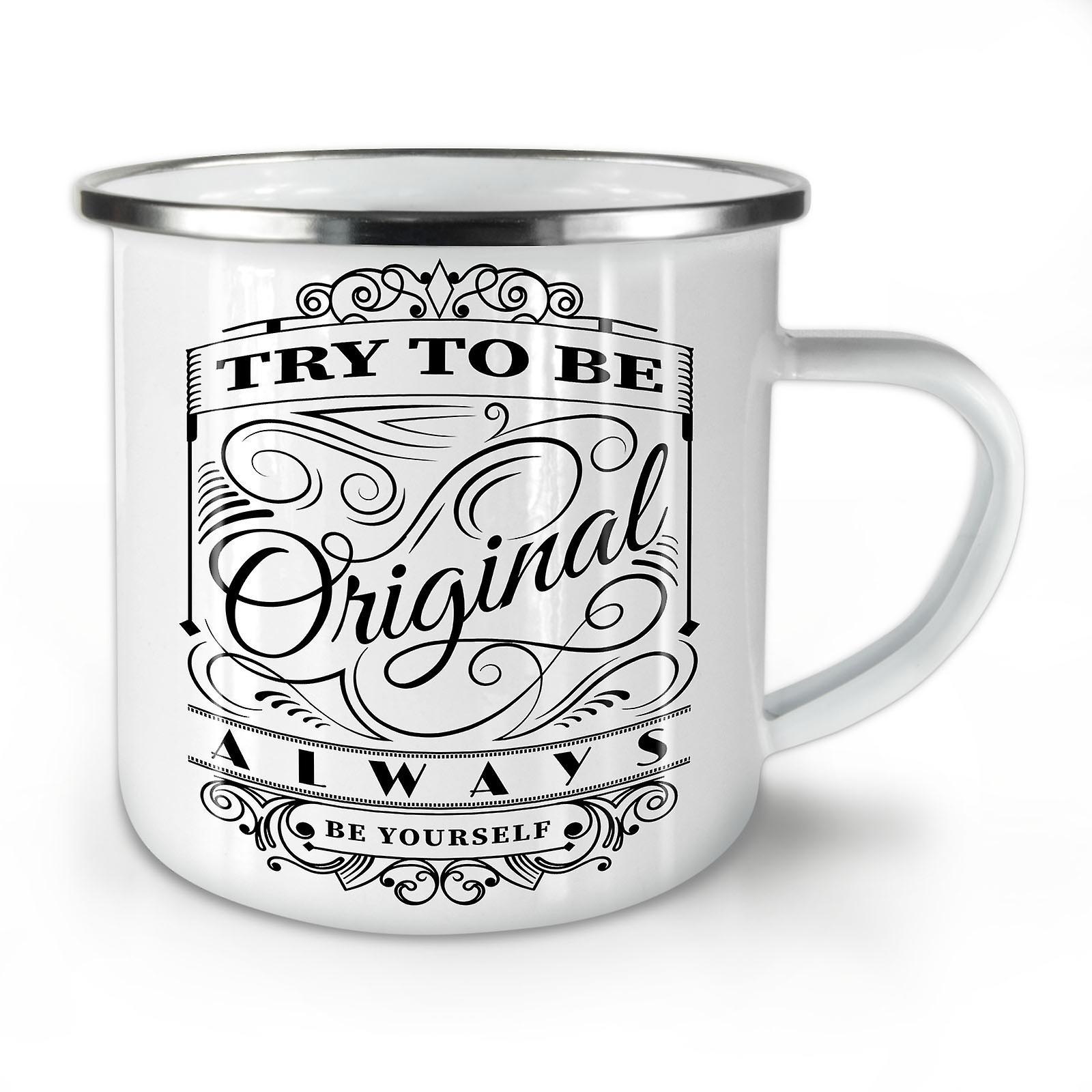 Unique Coffee OzWellcoda Be Enamel Whitetea Try New Mug10 To dhCstQr