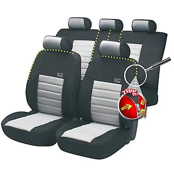 Sport Speed Car Seat Cover Black & Grey For Toyota AVENSIS 1997-2003