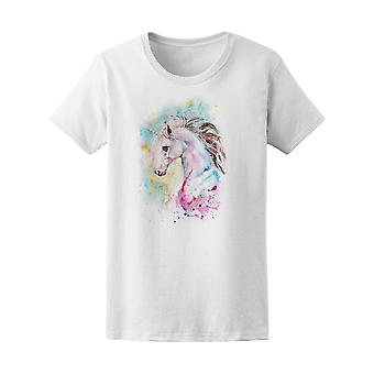 Artistic Watercolor Unicorn Graphic Tee - Image by Shutterstock