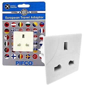 Pifco UK, EU 3 Pin auf 2 Pin Reise-Adapter-Stecker