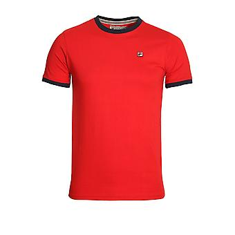 FILA VINTAGE Marconi T-Shirt Chinese Red