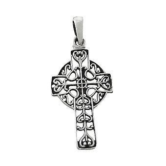 Wisiorek srebro Krzyż celtycki filigran