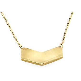 Handmade Casted in Brass Chevron Chain Pendant