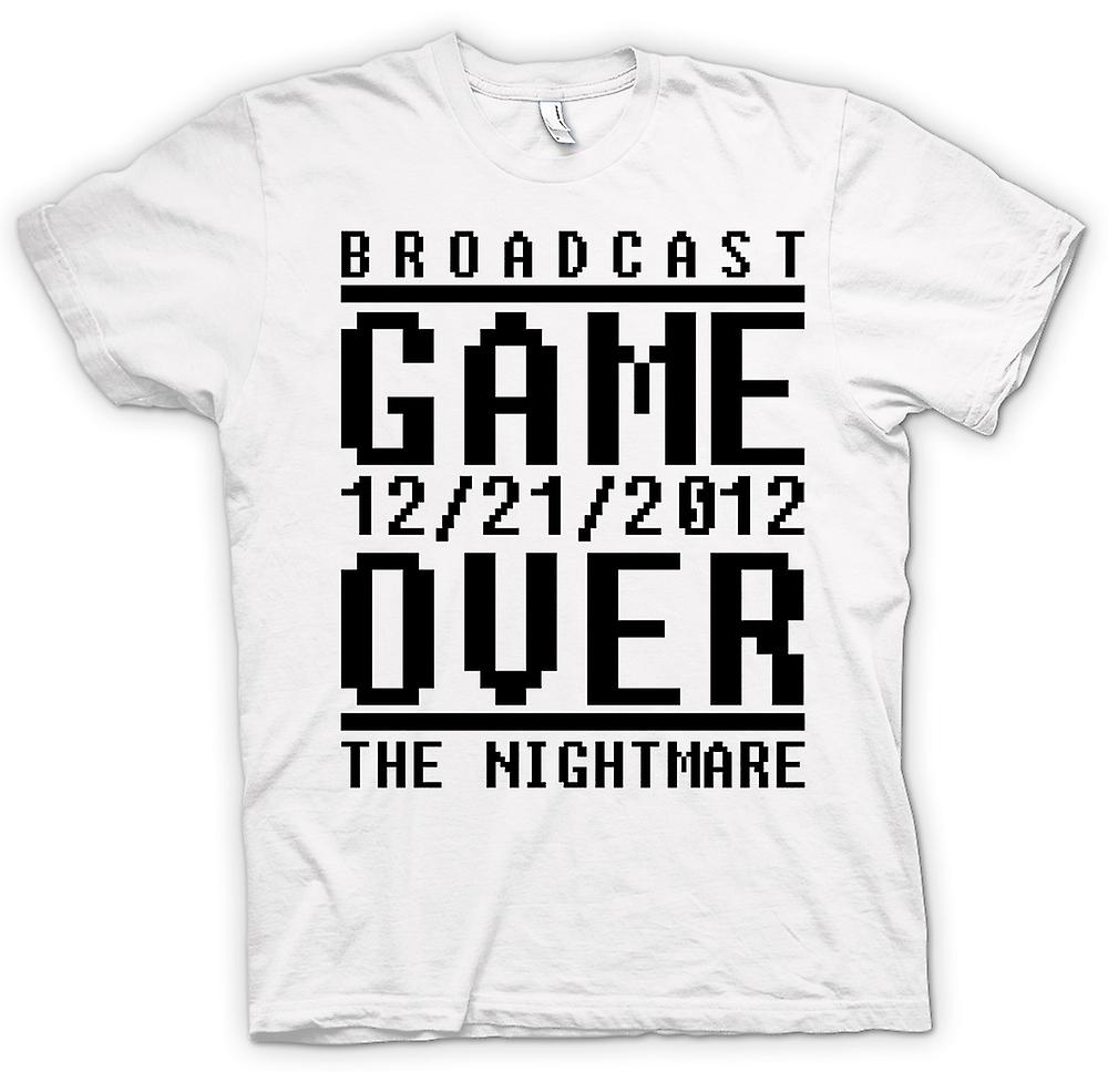 Womens T-shirt - Game Over 2012 Nightmare - Apocalypse End Days