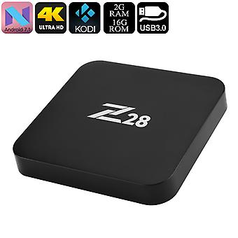 Z28 Android TV Box - 2GB RAM, Qaud CPU kärnor, 4Kx2K, RKMC Media Player, Miracast, Wi-Fi