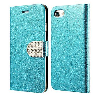 Glittery Wallet case for iPhone (8)