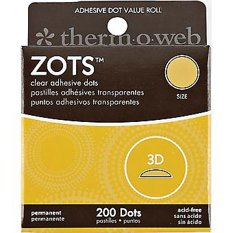 Zots Clear Adhesive Dots-3D 1/2