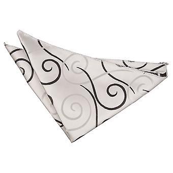 Scroll zakdoek zwart / Pocket Square