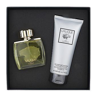 Lalique Pour Homme 2 stykke gave sæt EDP 2.5Oz & Shower Gel 6,6 Oz