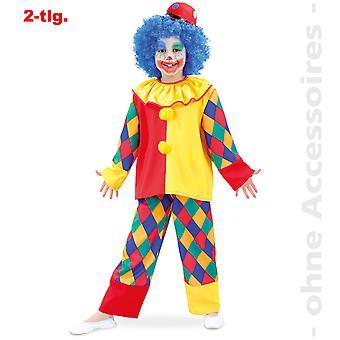 Clown Kunterbunt Kinder Kostüm Clownanzug Clownkostüm Harlekin Kinderkostüm