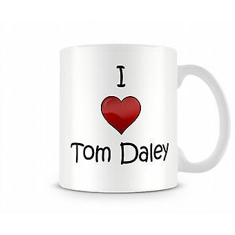 Ich liebe Tom Daley bedruckte Becher