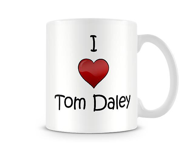I Love Tom Daley Printed Mug