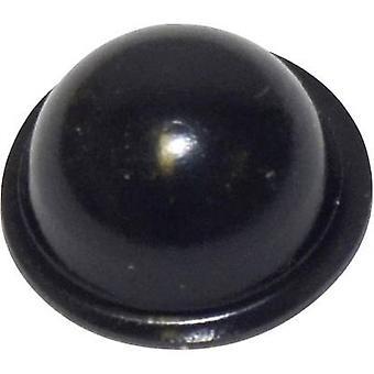 TOOLCRAFT PD2190SW Foot self-adhesive, circular Black (Ø x H) 19 mm x 9.6 mm 1 pc(s)