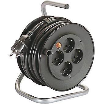 Als - Schwabe 10180 kabel haspel 15 m zwart PG plug