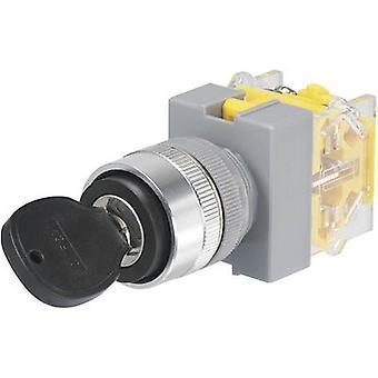 TRU COMPONENTS Y090-A-11Y/21 Key switch 250 V AC 5 A 1 x Off/On 1 x 90 ° IP40 1 pc(s)