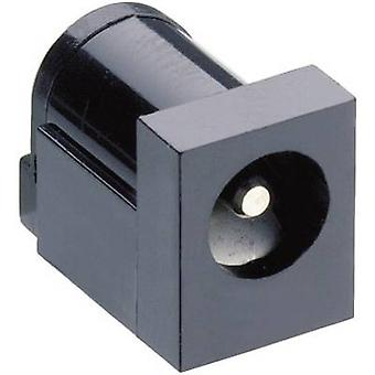 Lumberg NEB 21 R Low power connector Socket, horizontal mount 6 mm 1.95 mm 1 pc(s)