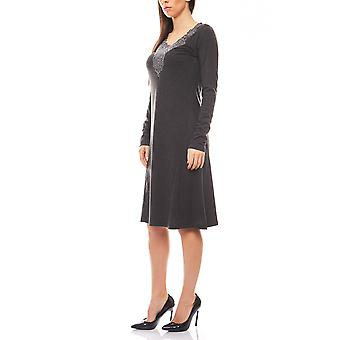 TOGETHER autumn Ladies Jersey dress in grey
