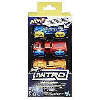 Nerf Nitro Schaum Auto 3er-Pack (Version 2)