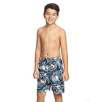 Mittelerweile Junior Boy Raiders Schwimmen Shorts schwarz/blau für Kinder 6-15 Jahren
