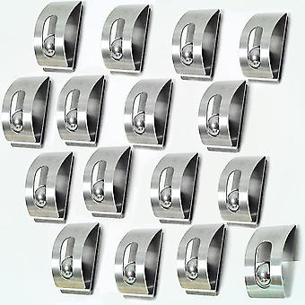 Retro - Notice Board / Fridge Magnets / Note Holders - Pack Of 16 - Silver