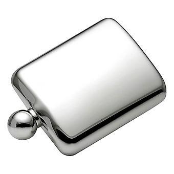 Orton West Ball Cap 6oz Hip Flask - Silver