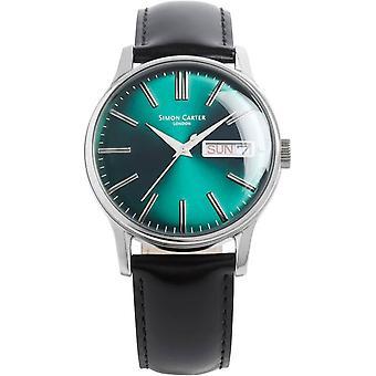 Simon Carter Viridian Watch - Blue/Green/Silver