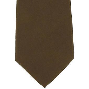 Michelsons van Londen platte zijden stropdas - Tan
