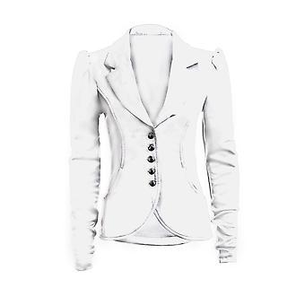 New Ladies Long Sleeve 5 Button Slim Fit Smart Pocket Women's Blazer