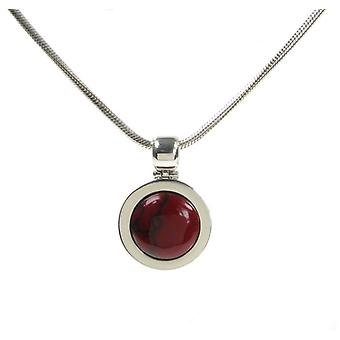 Cavendish French Silver and Formed Red Jasper Bowler Hat Pendant without Chain