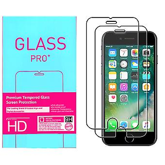 2-Pack tempered glass iPhone screen protector 2i1 7 Retail