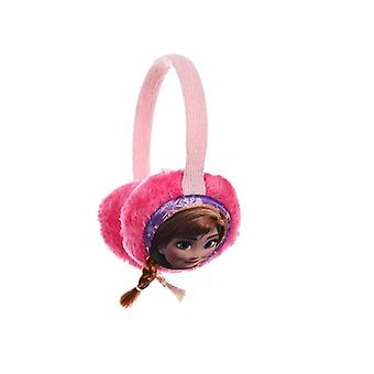 Disney Frozen Frost earmuffs Anna and Elsa with pigtails Pink