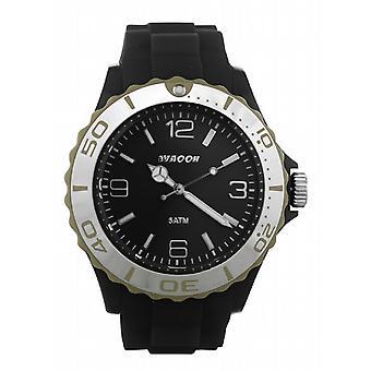 Waooh - Montre MC42 Noire Lunette Silver Couleur