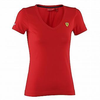 Waooh - Fashion - T-Shirt Women's V-Neck Scuderia Ferrari
