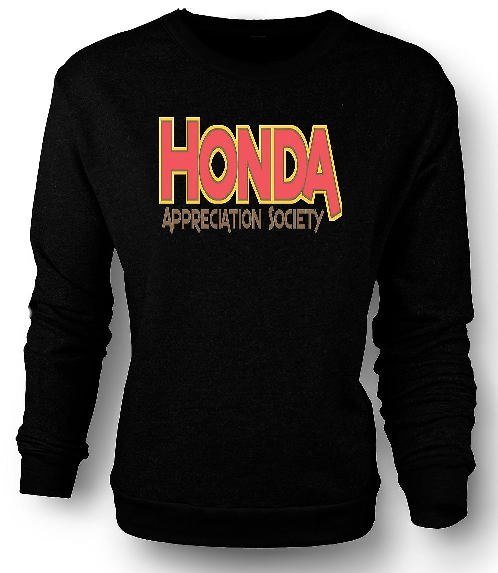 Mens Sweatshirt Honda Appreciation Society