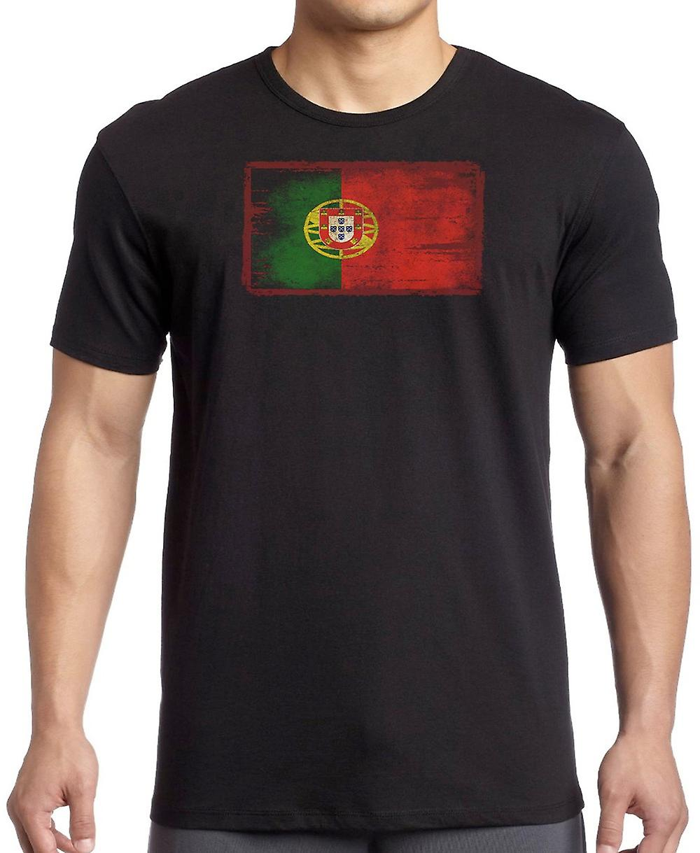 Portuguese Portugal Grunge Flag Kids T Shirt